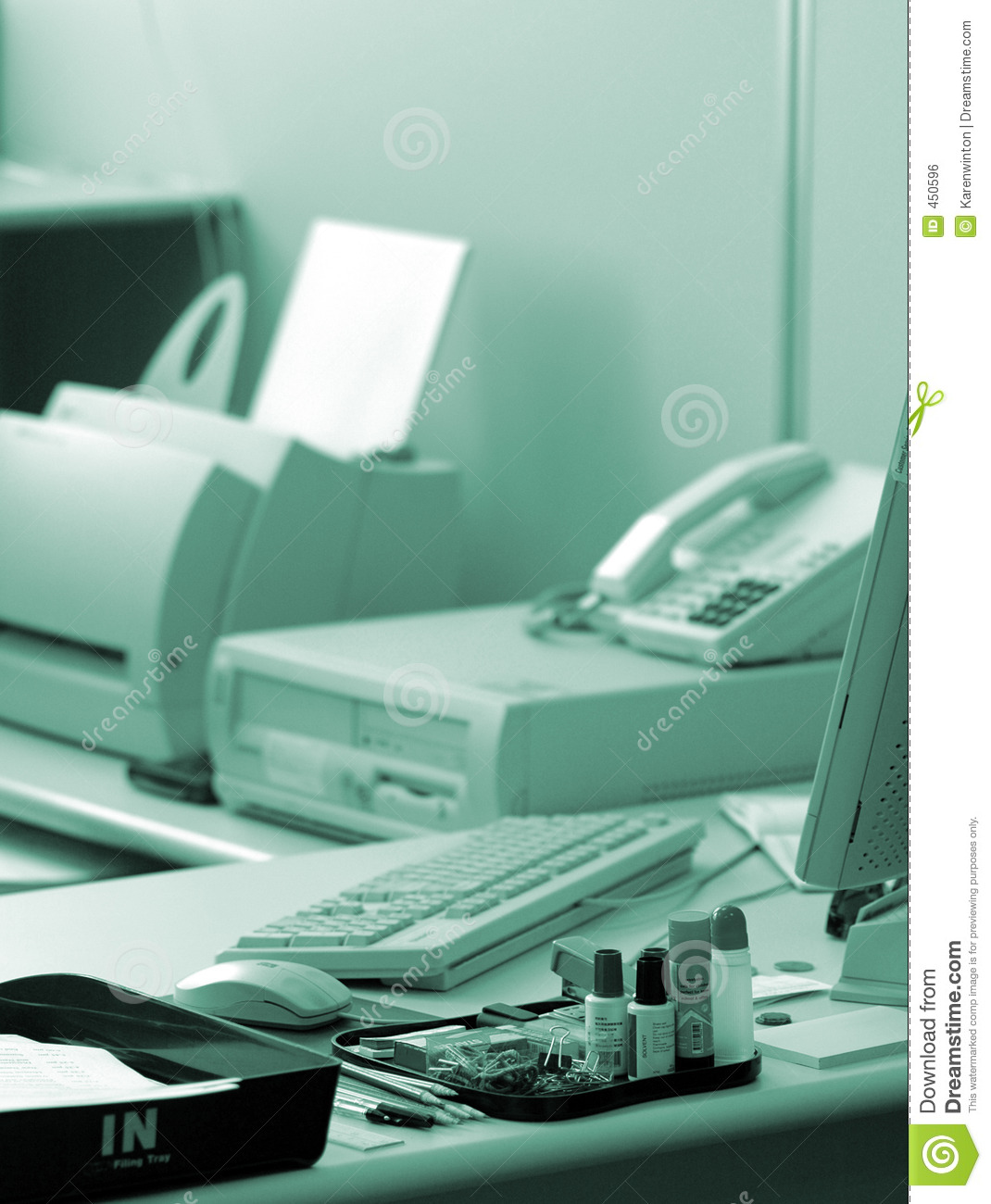 Download Blue office stock photo. Image of technology, computer - 450596