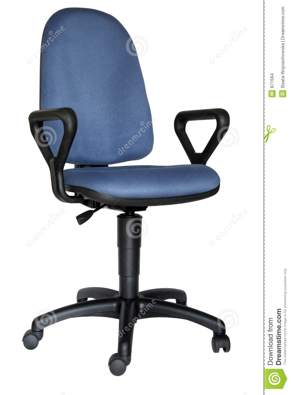 Blue office chair stock images image 871594 for Blue office chair