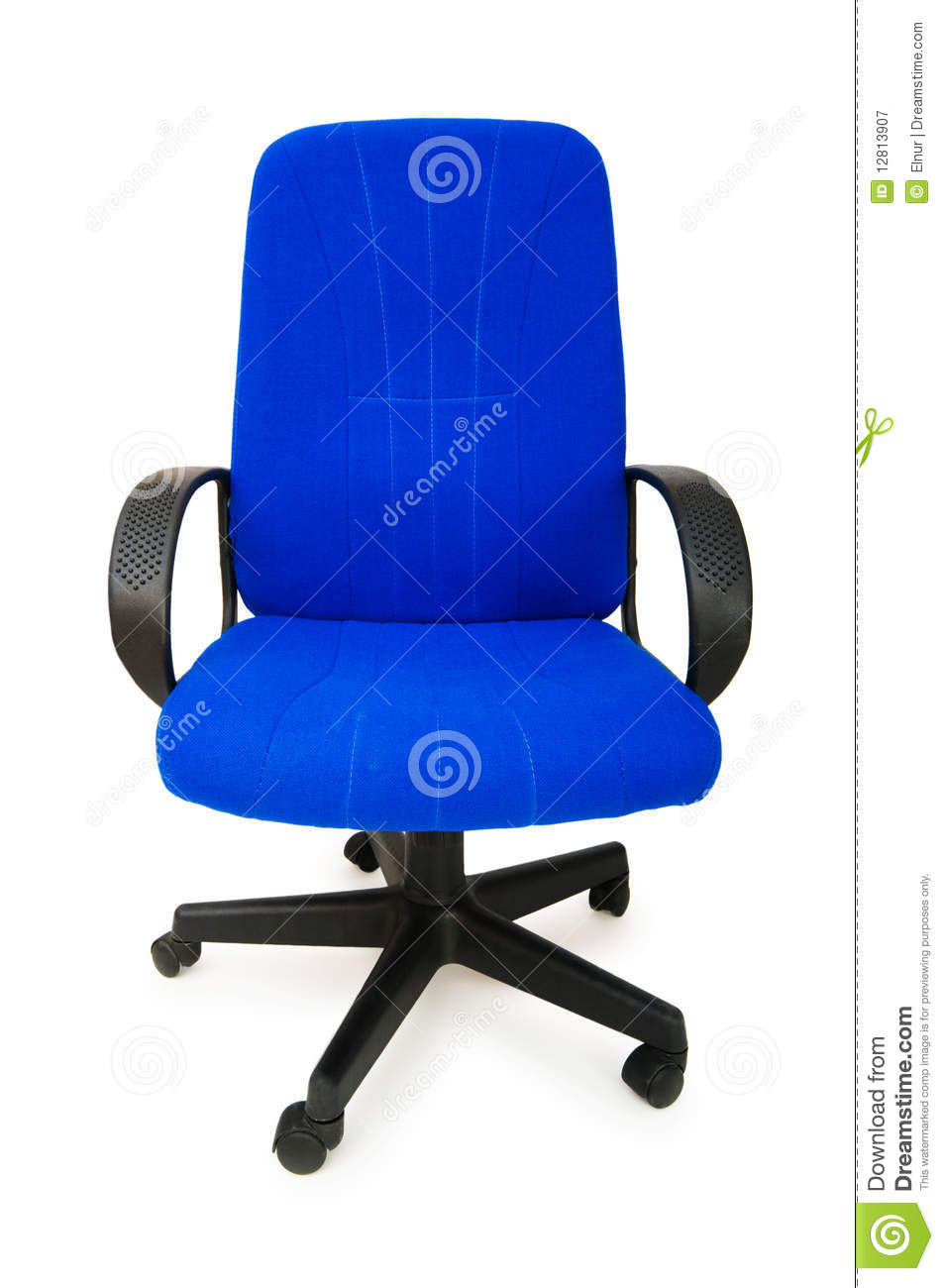 The blue office chair isolated on the white background for Blue office chair