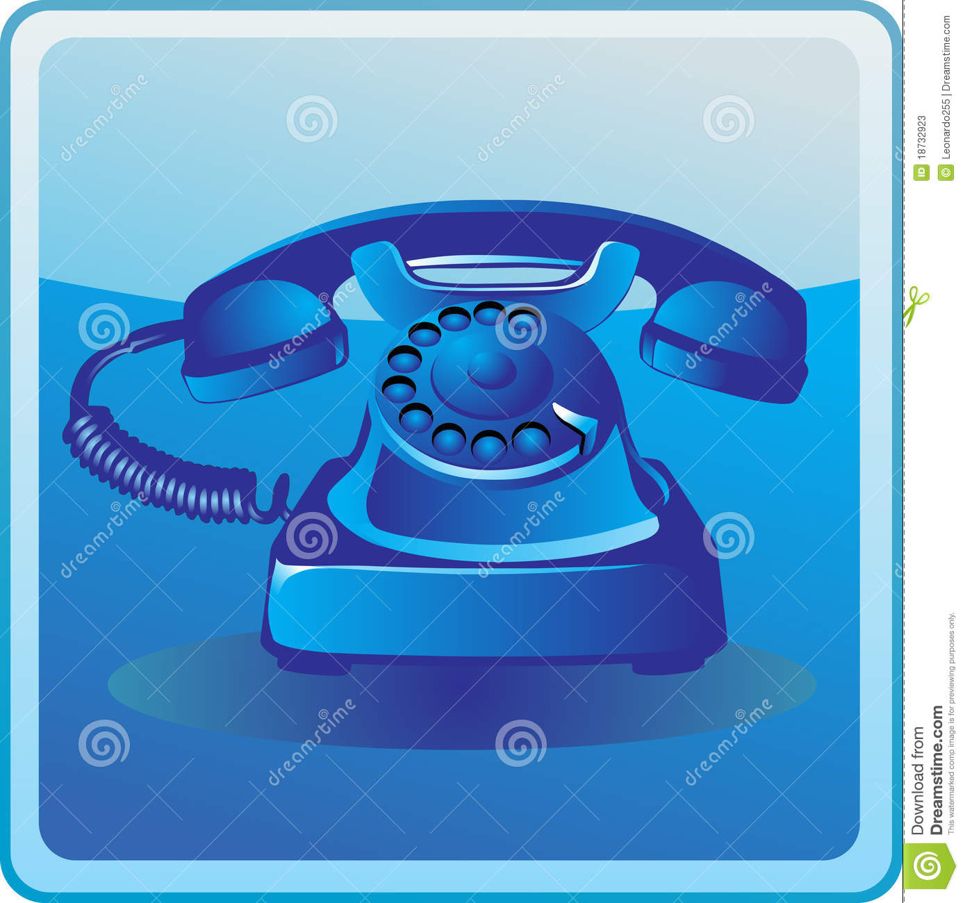Blue Old Telephone Stock Photos Image 18732923