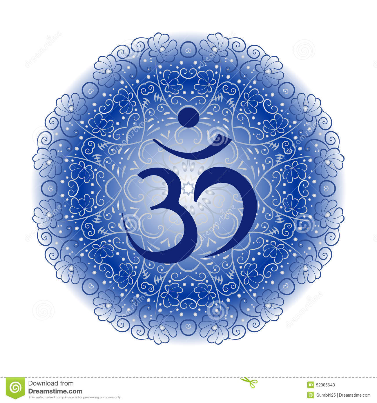 Blue om stock vector illustration of blue india hinduism 52085643 blue om biocorpaavc Images