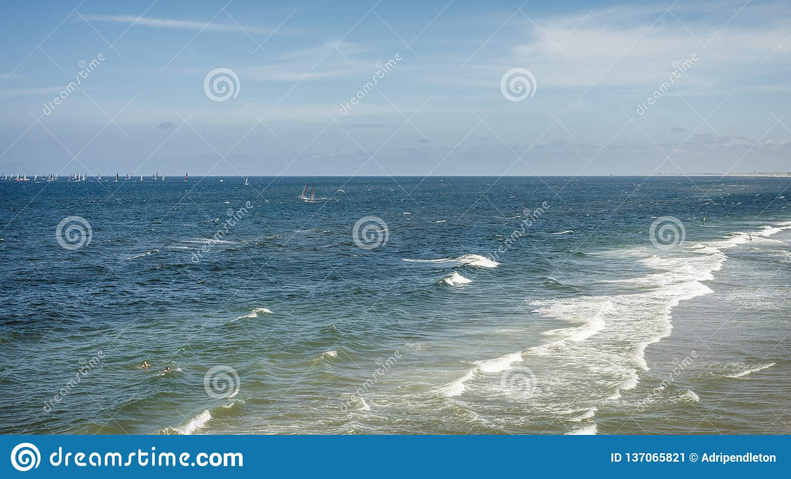Blue Open Ocean Photo Of The North Sea Near The Shoreline ...