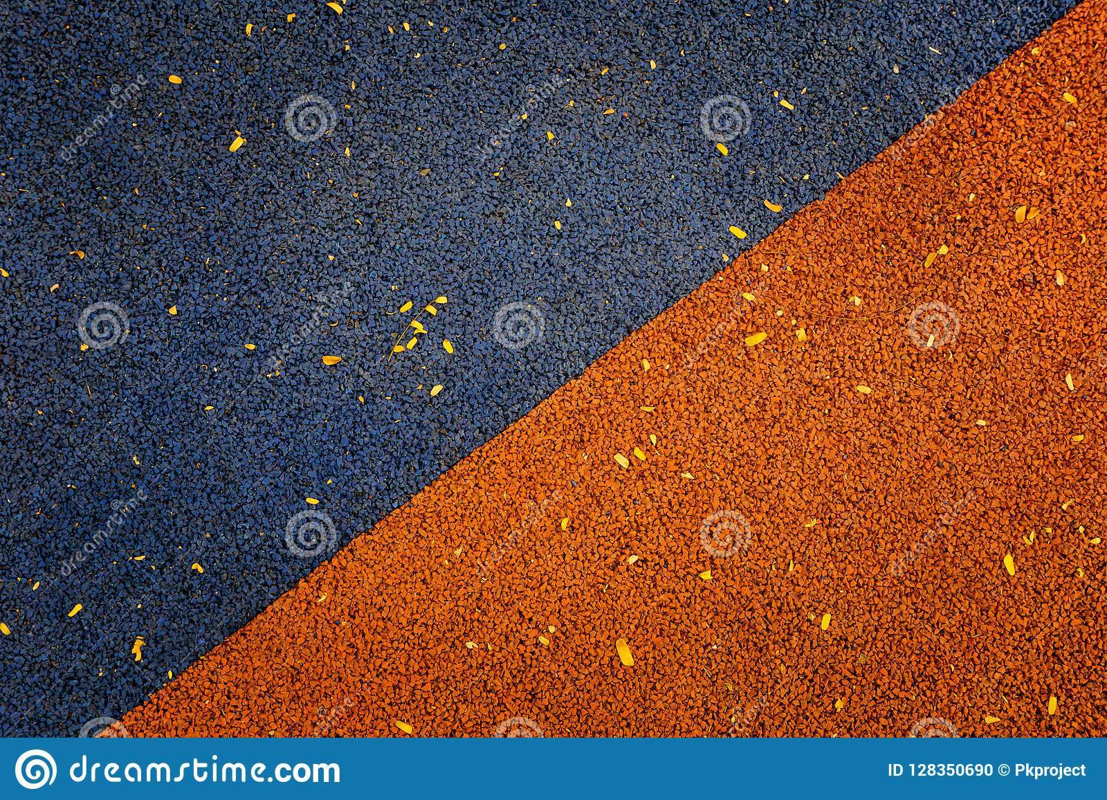 Blue And Orange Color Of Rubber Flooring Play Park Flooring Back