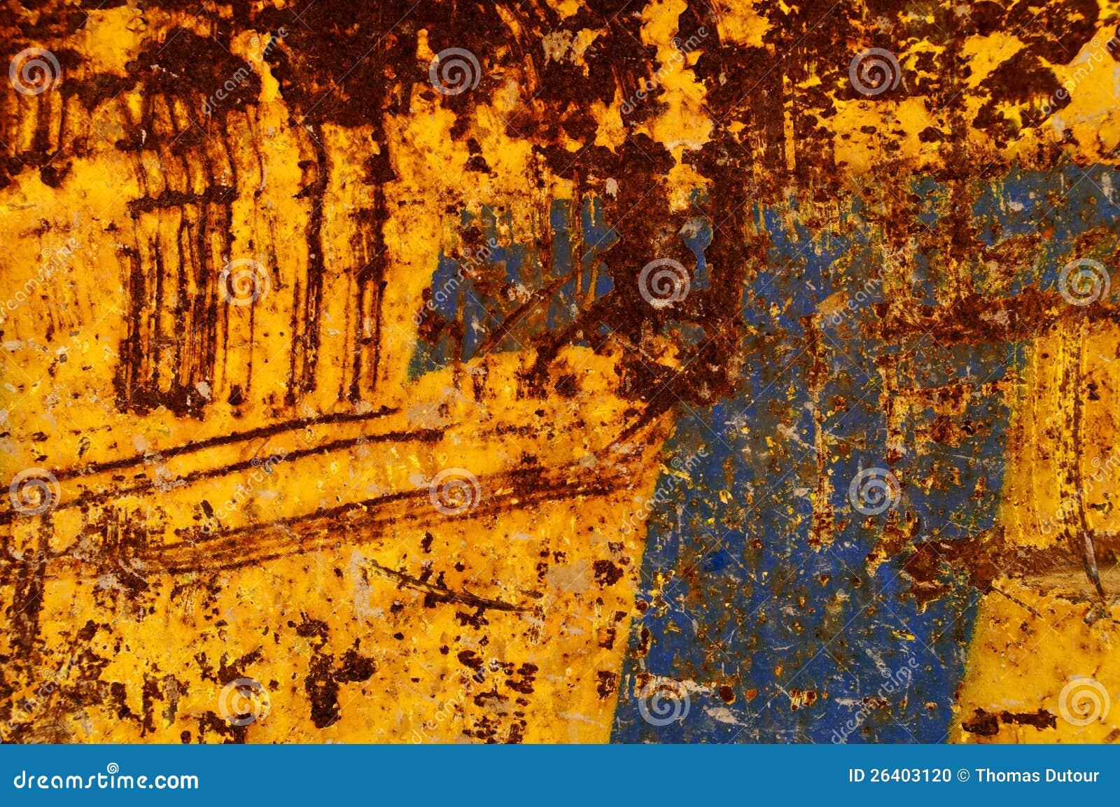 Blue And Orange Rusty Background Stock Photo Image 26403120