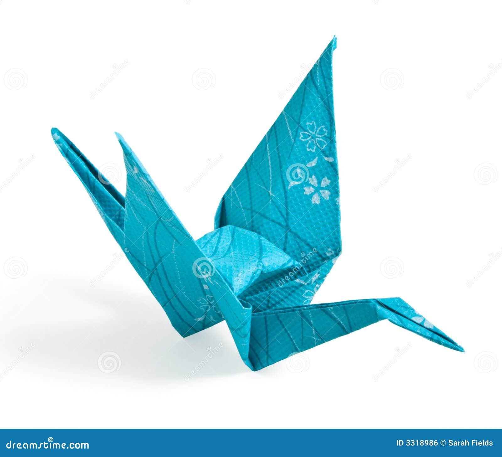 Blue origami paper crane stock photo image of game beak 20953832 blue origami crane royalty free stock image jeuxipadfo Images
