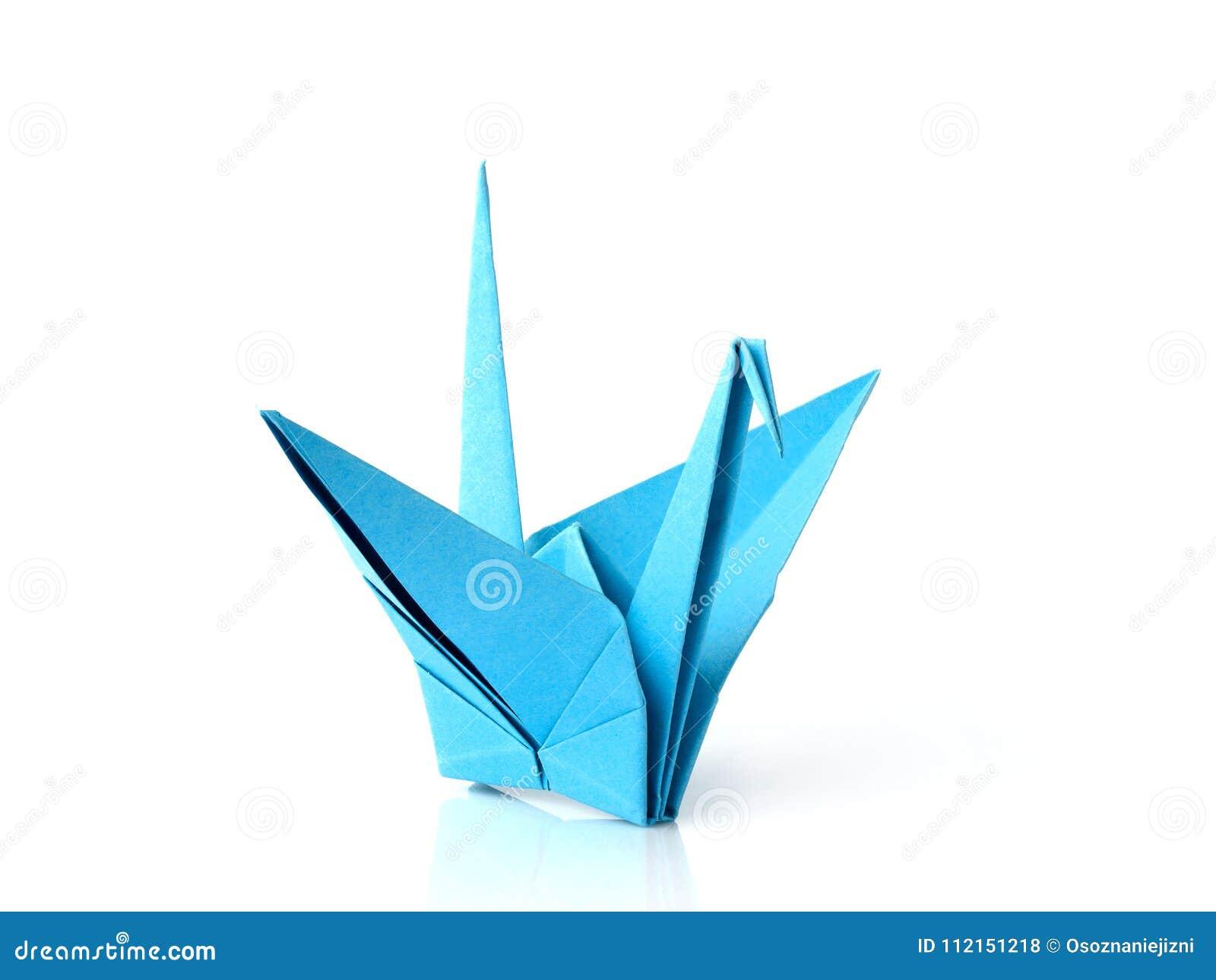 Orange Origami Crane Stock Vektor Art und mehr Bilder von Abstrakt ... | 1065x1300