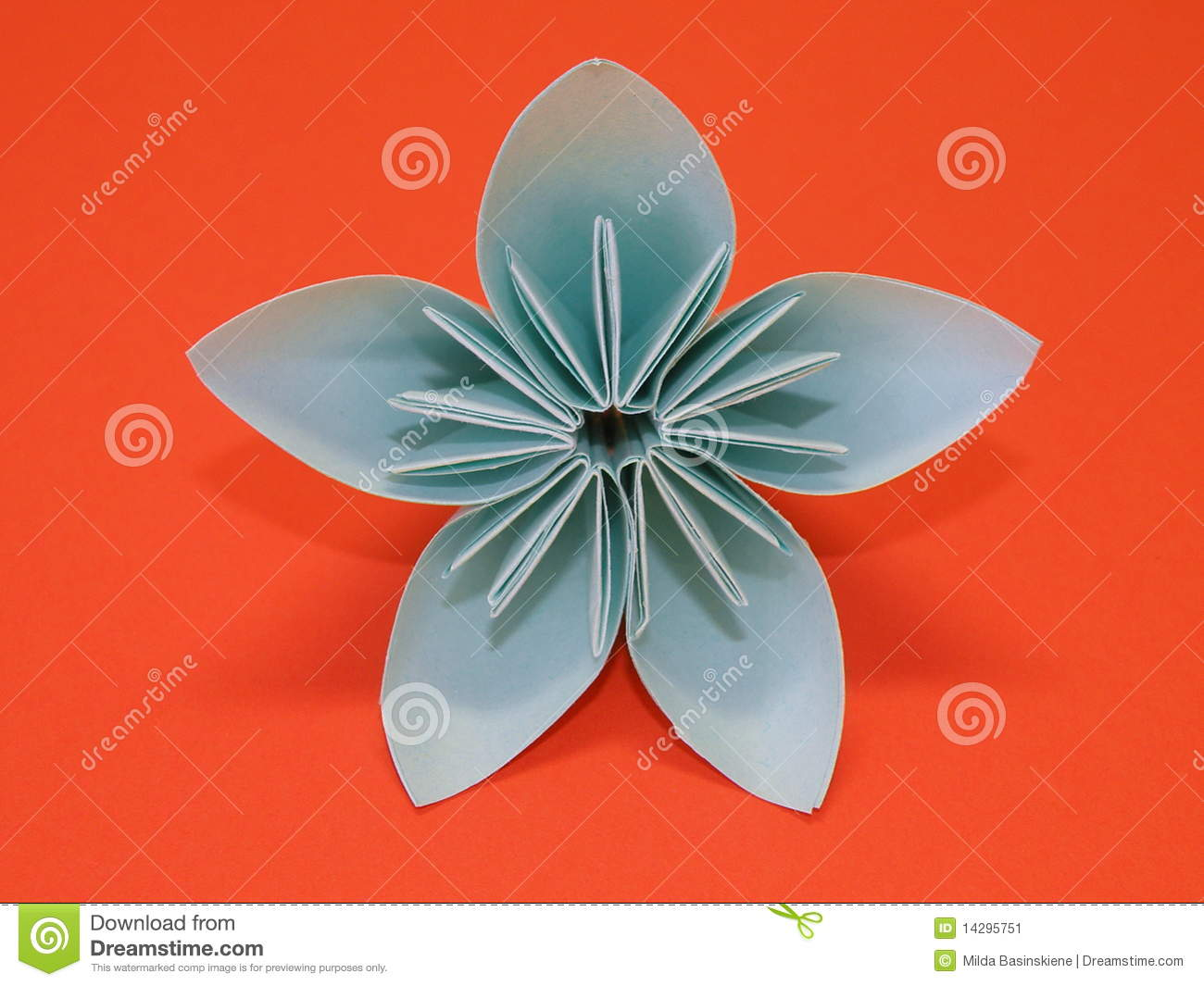 Blue Origami Flower Stock Image Image Of Traditional 14295751