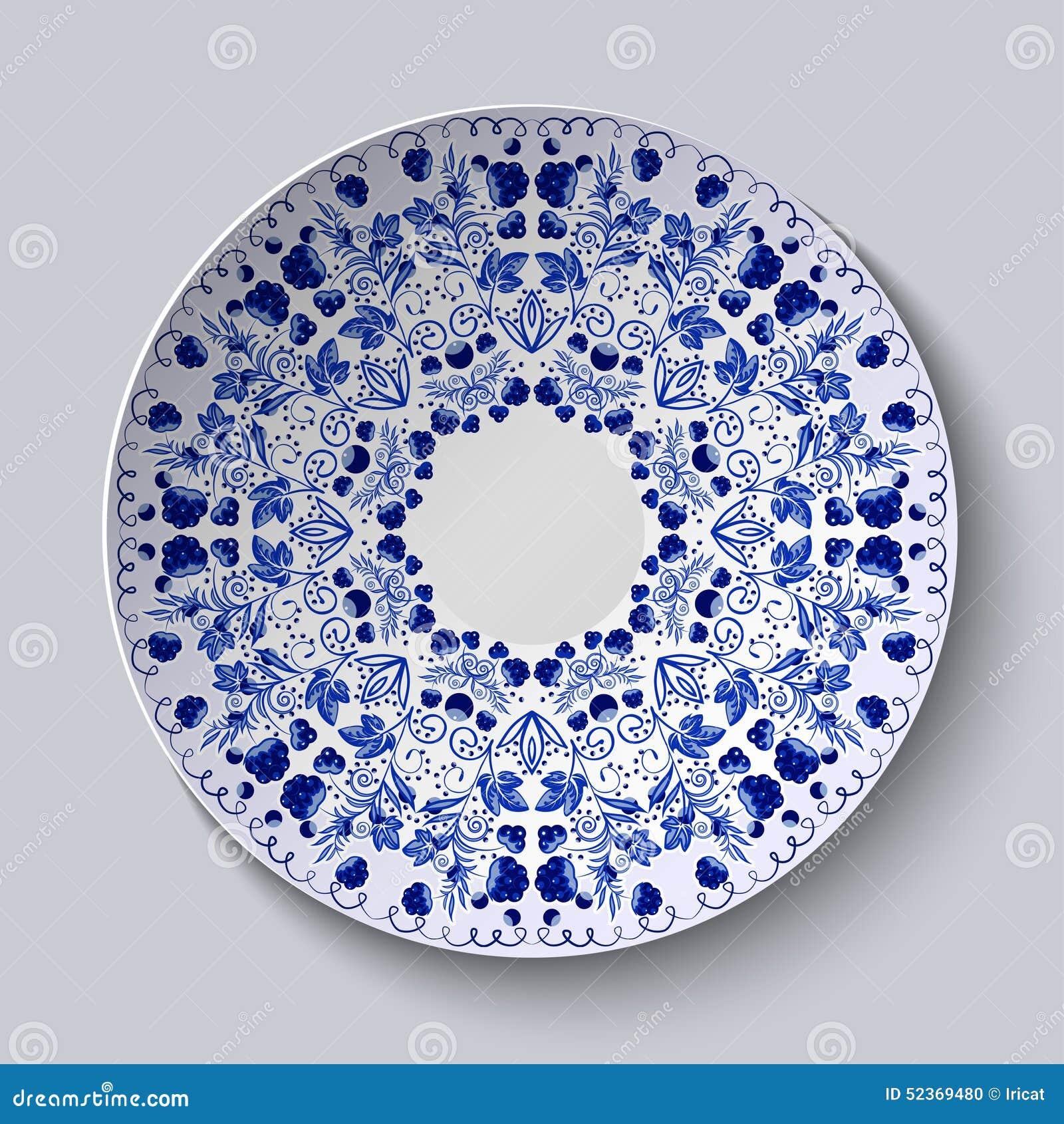 Plate Decoration Flowers
