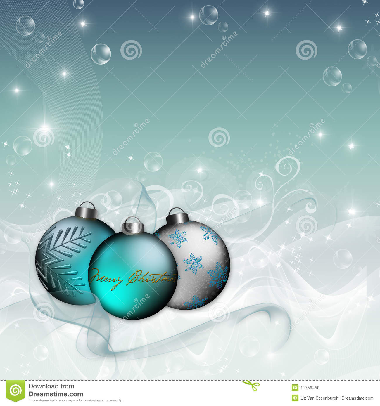 Blue Christmas Tree Wallpaper: Blue Ornament Christmas Background Royalty Free Stock
