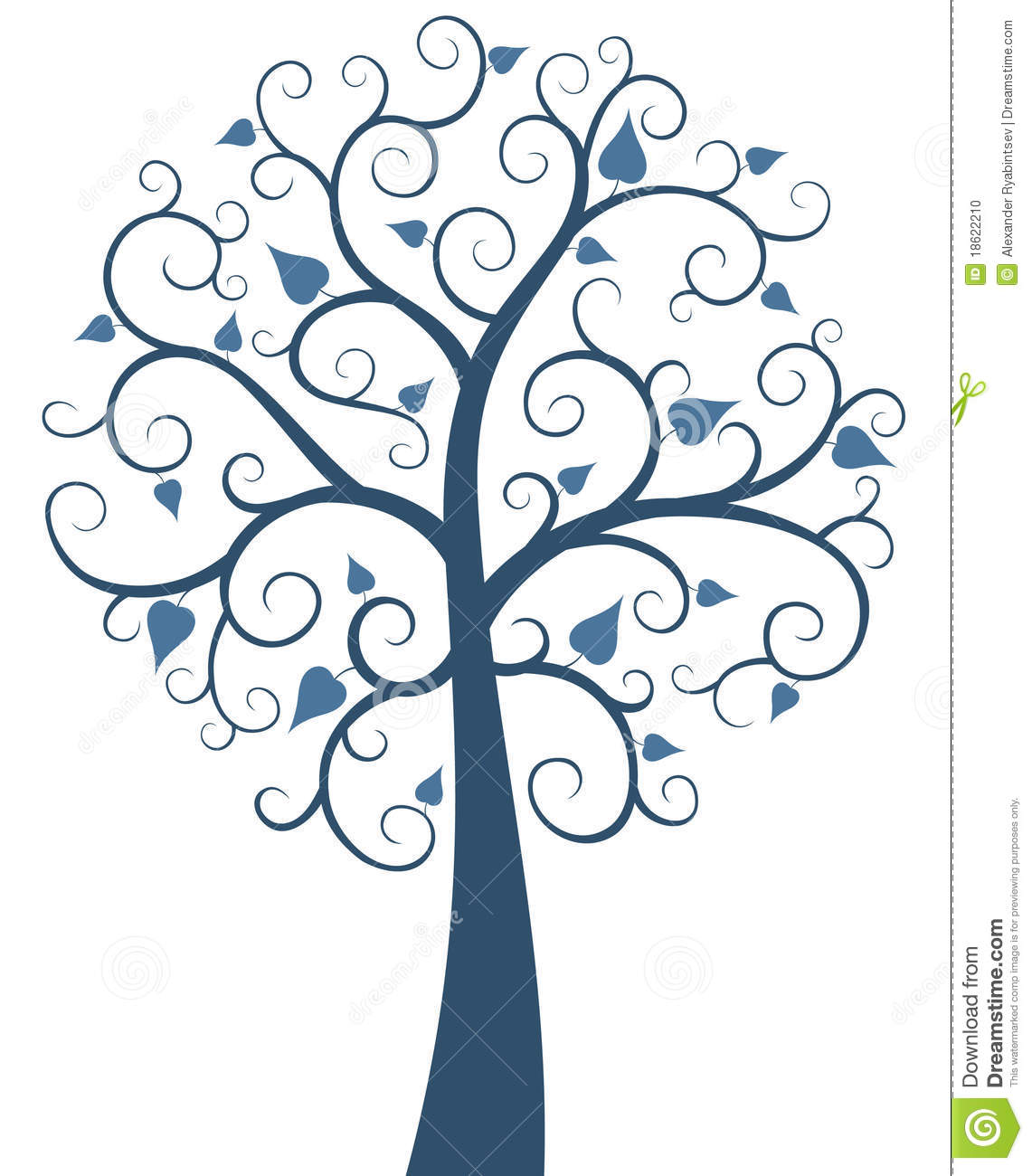 blue ornate tree stock photo image 18622210 snow vector overlay snow vector animation