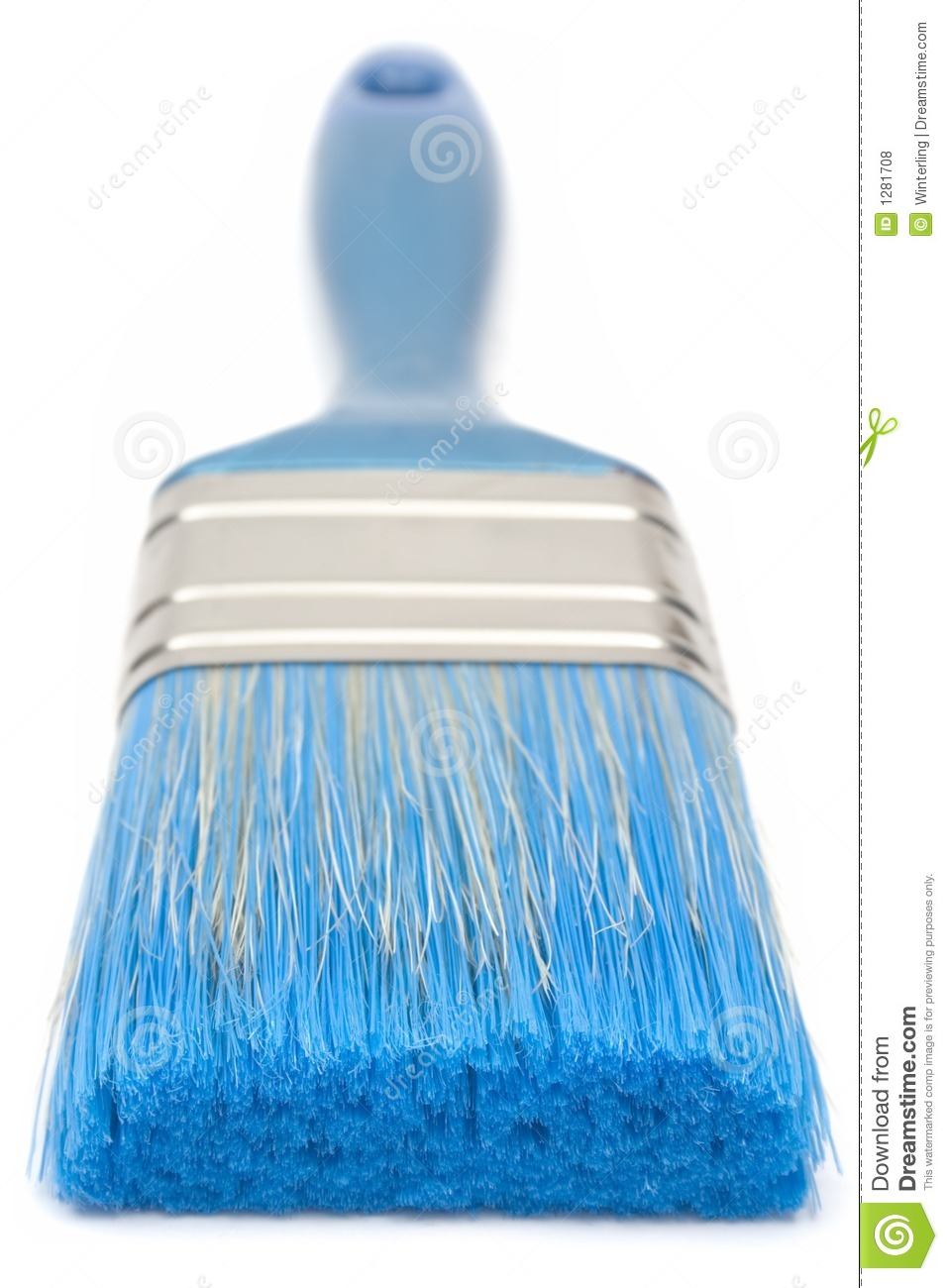 Darkbluepaintbrush: Blue Paint Brush (Front View) Royalty Free Stock Photos