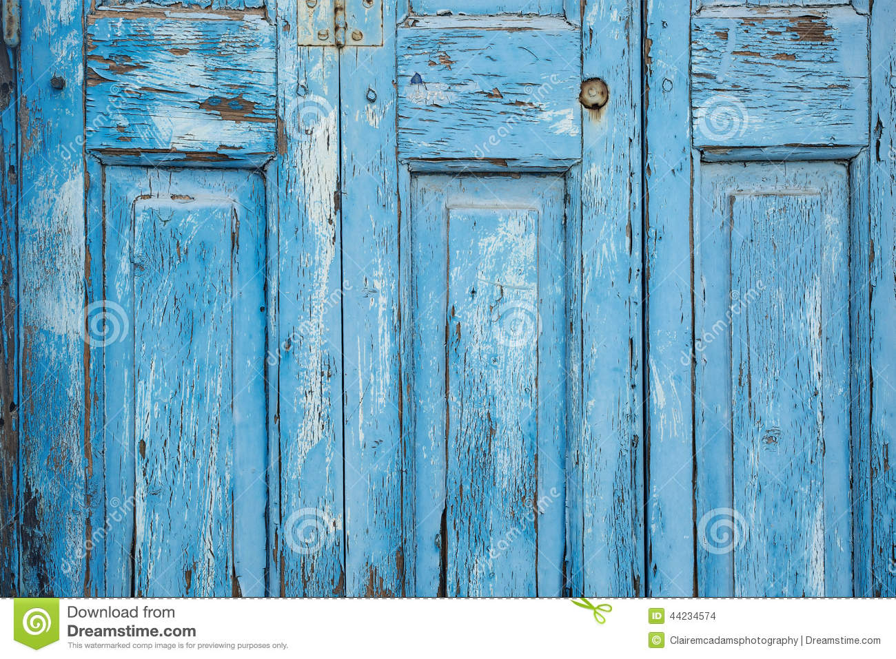 Blue Paint Peeling Off Door Texture Stock Photo Image 44234574