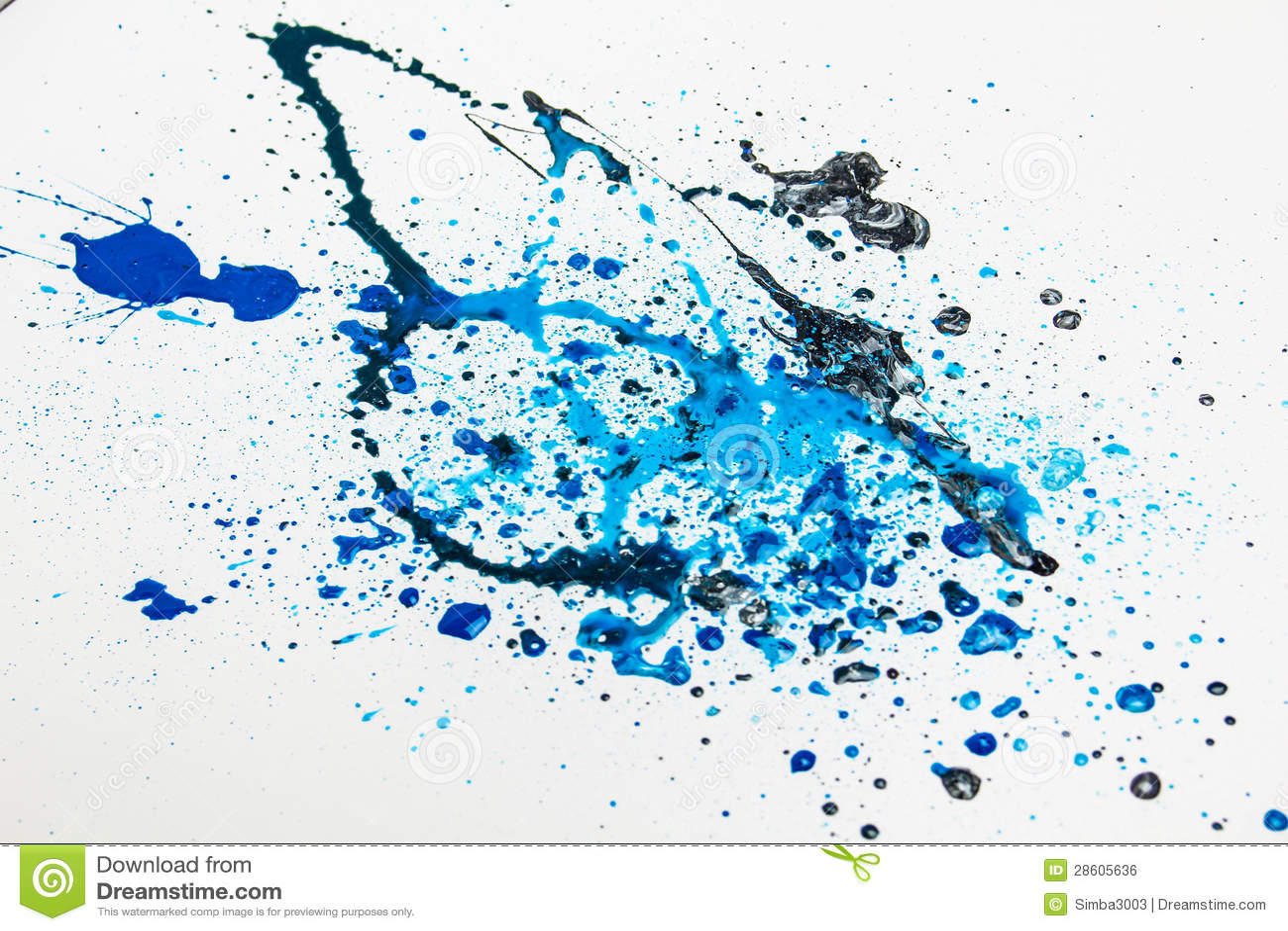 Blue Paint Splashes Ro...