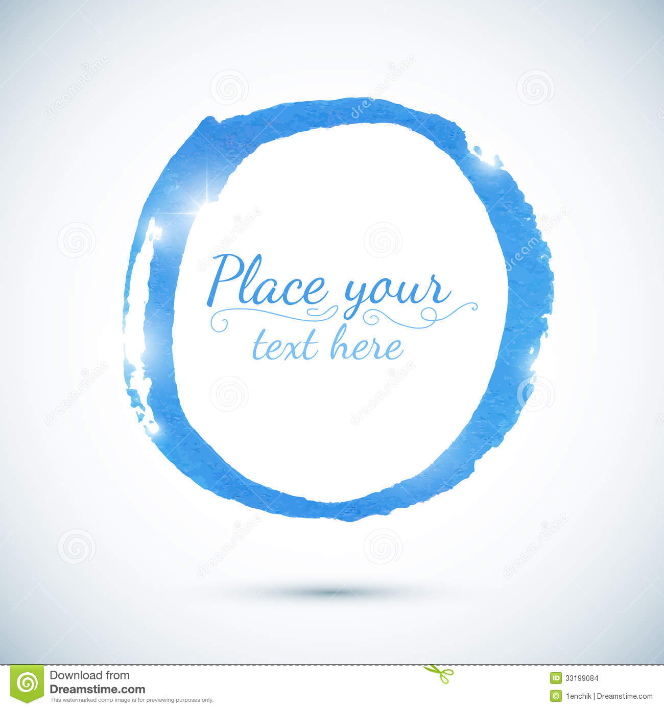 Blue Paint Vector Circle Template For Your Text Stock Images - Image ...