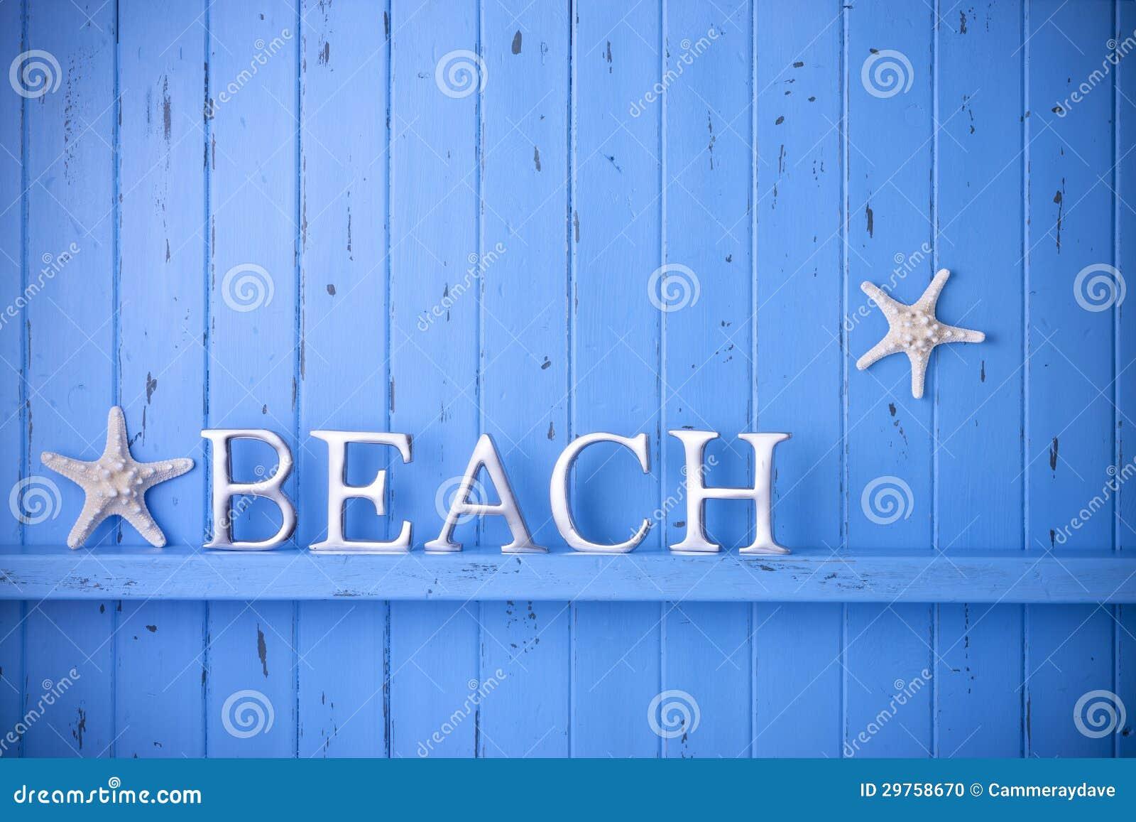 Summer Wood Beach Starfish Background