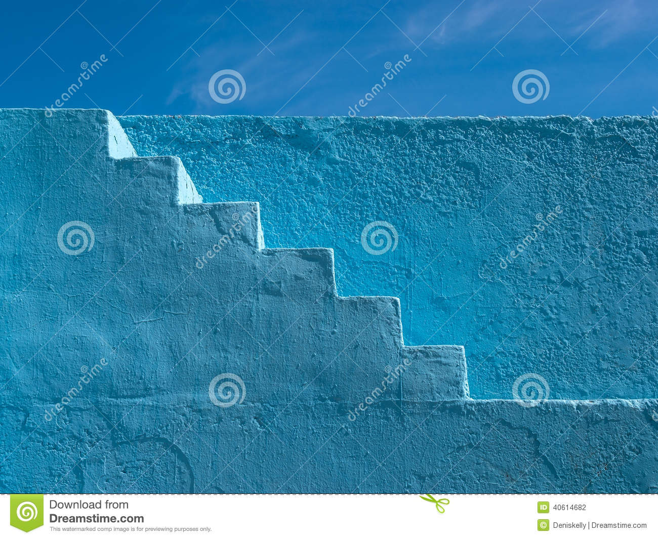 Blue Painted Steps Pattern