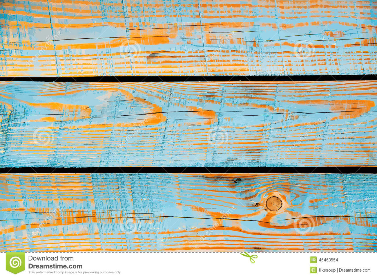 Blue Painted Wood Texture Vector Background Stock Vector