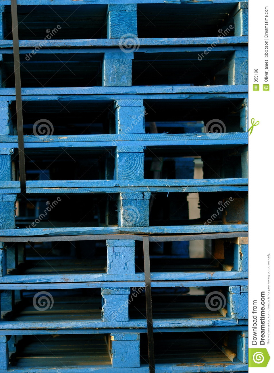 blue pallets royalty free stock photos image 355198