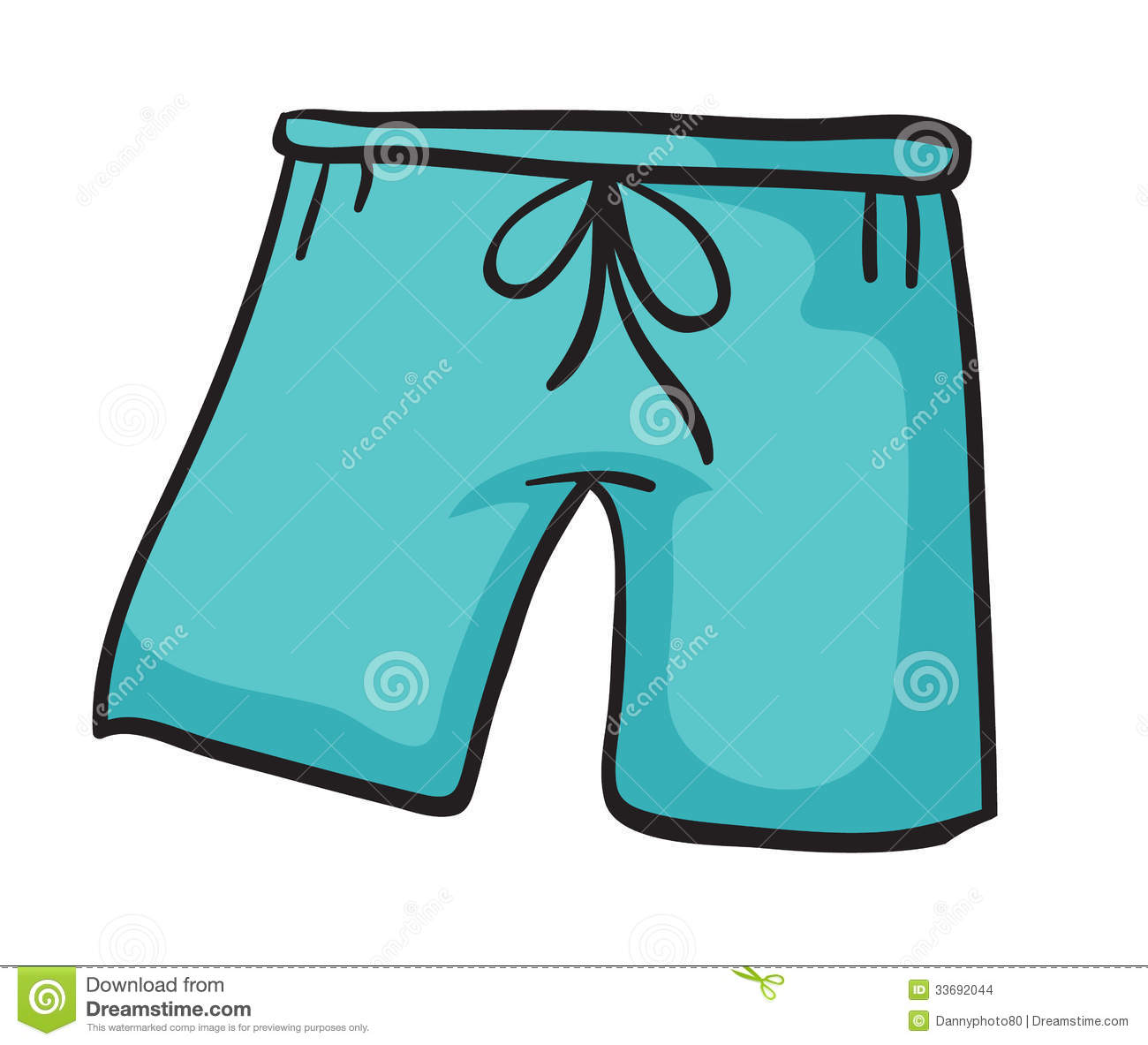 Illustration of a blue pant on a white background.