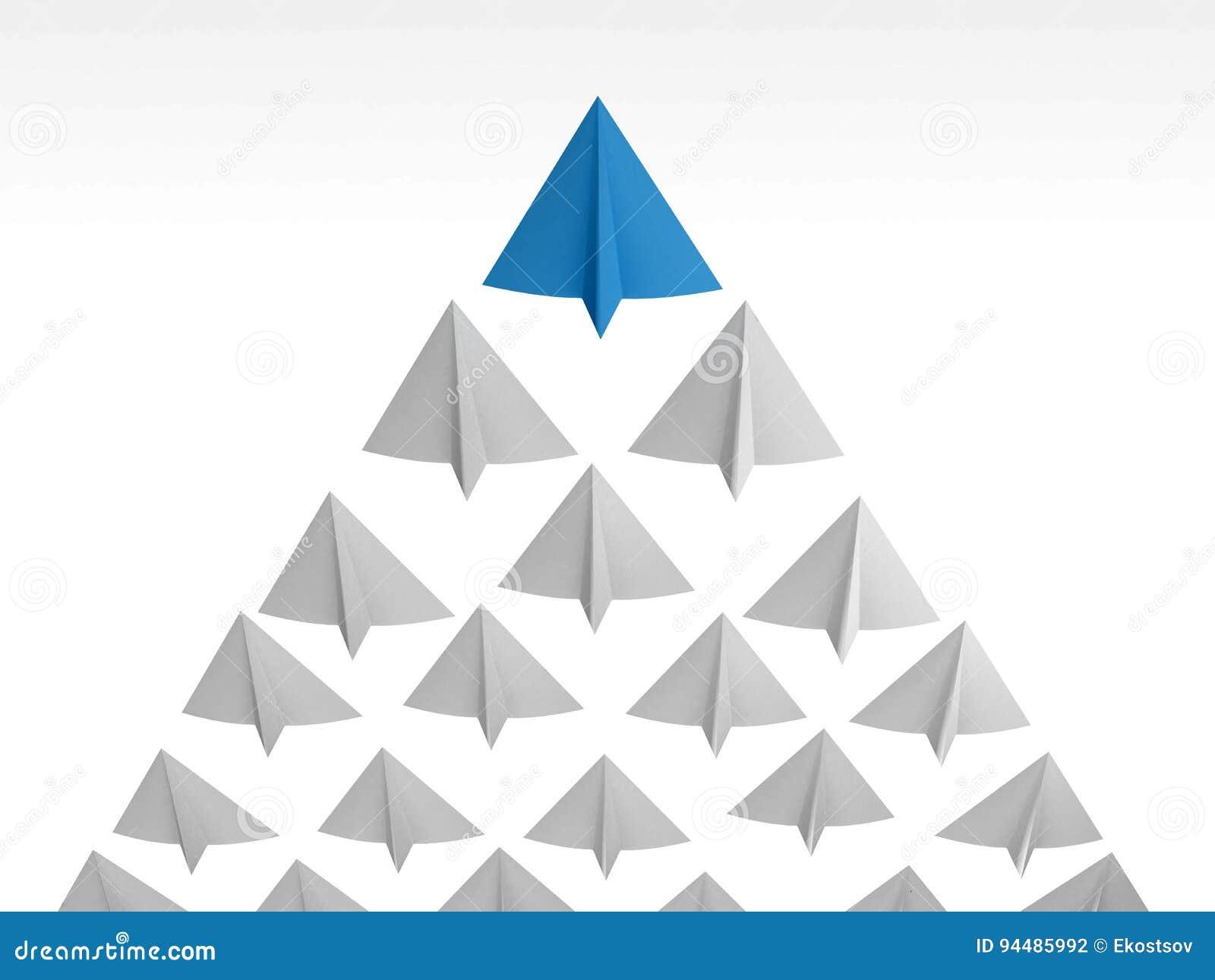Blue Paper Airplane 3d Rendering