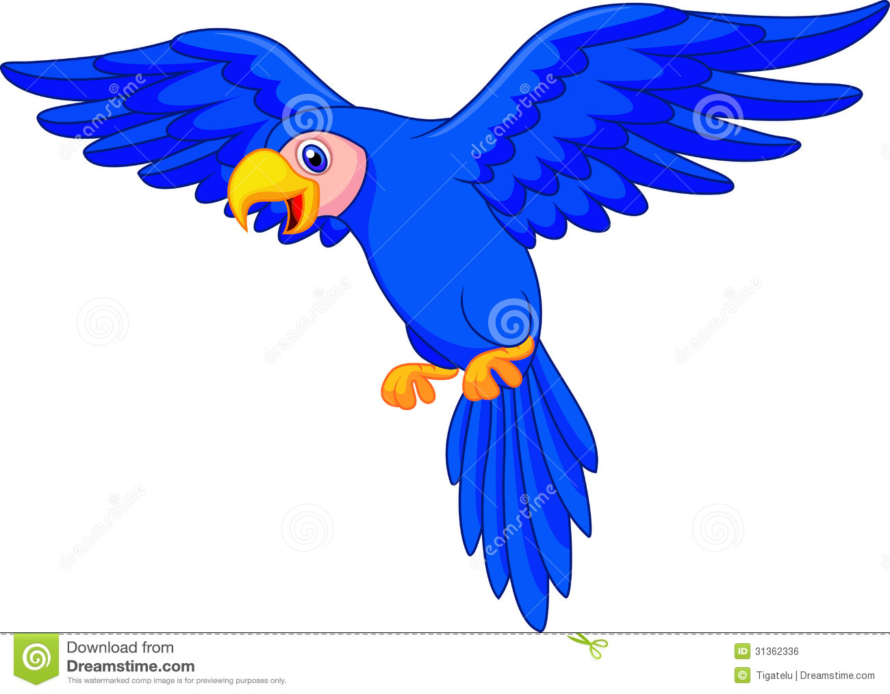 Cartoon parrot flying - photo#3
