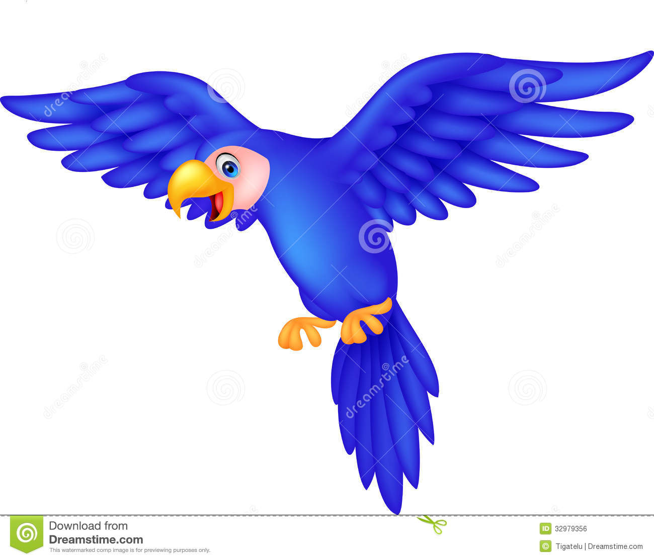 Cartoon parrot flying - photo#5