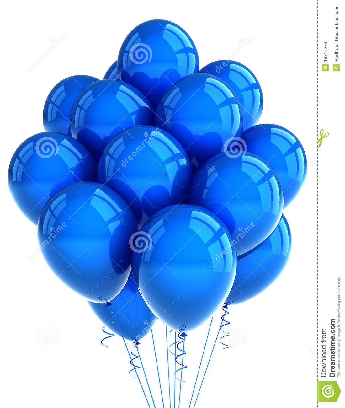 Blue Party Ballooons Royalty Free Stock Images Image
