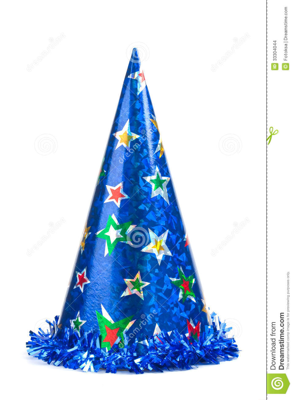 Blue Party Hat Stock Photo Image Of Events Color Blue 33304044