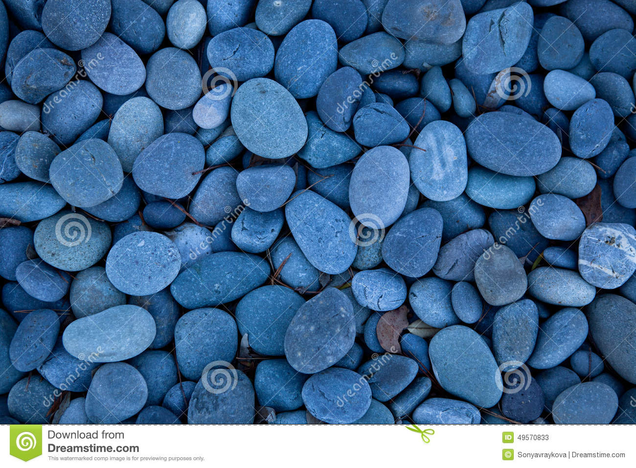Outdoor Blue Pebbles : Blue pebbles stock photo image