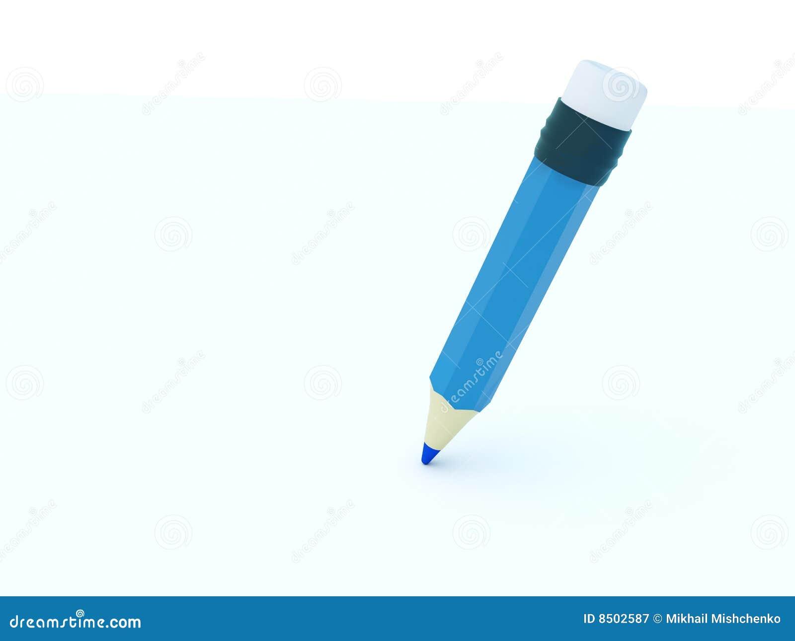 Pencil Paper Icon Blue pencil icon