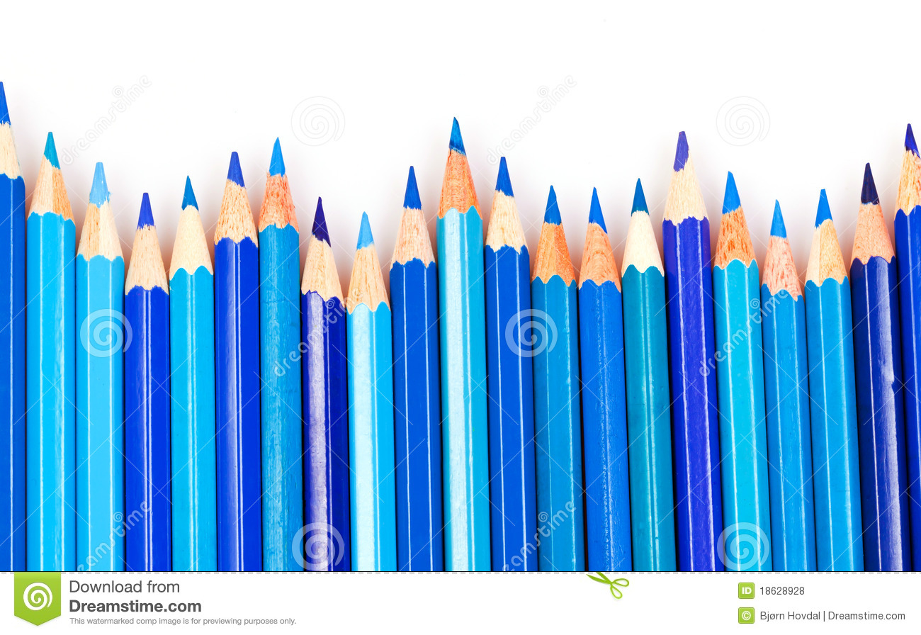 Blue Pencils Royalty Free Stock Photos - Image: 18628928