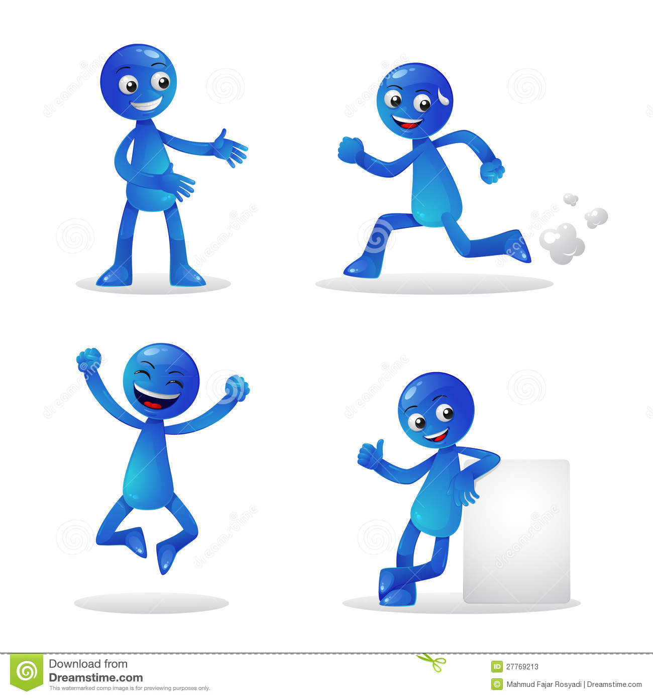 Blue Person Activity 1 Stock Photos Image 27769213