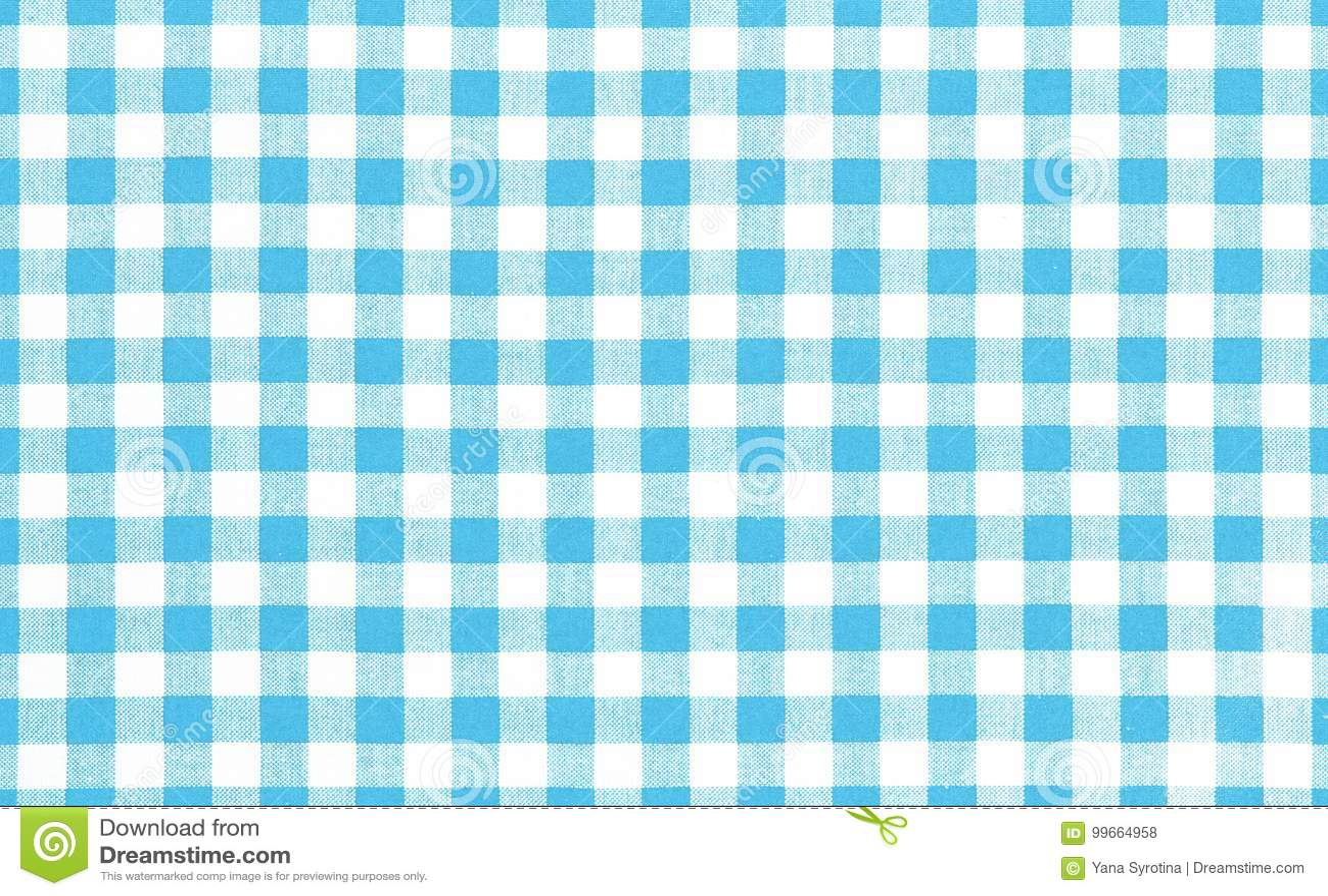 Blue Picnic Cloth Background. Stock Photo - Image of retro, fabric ...