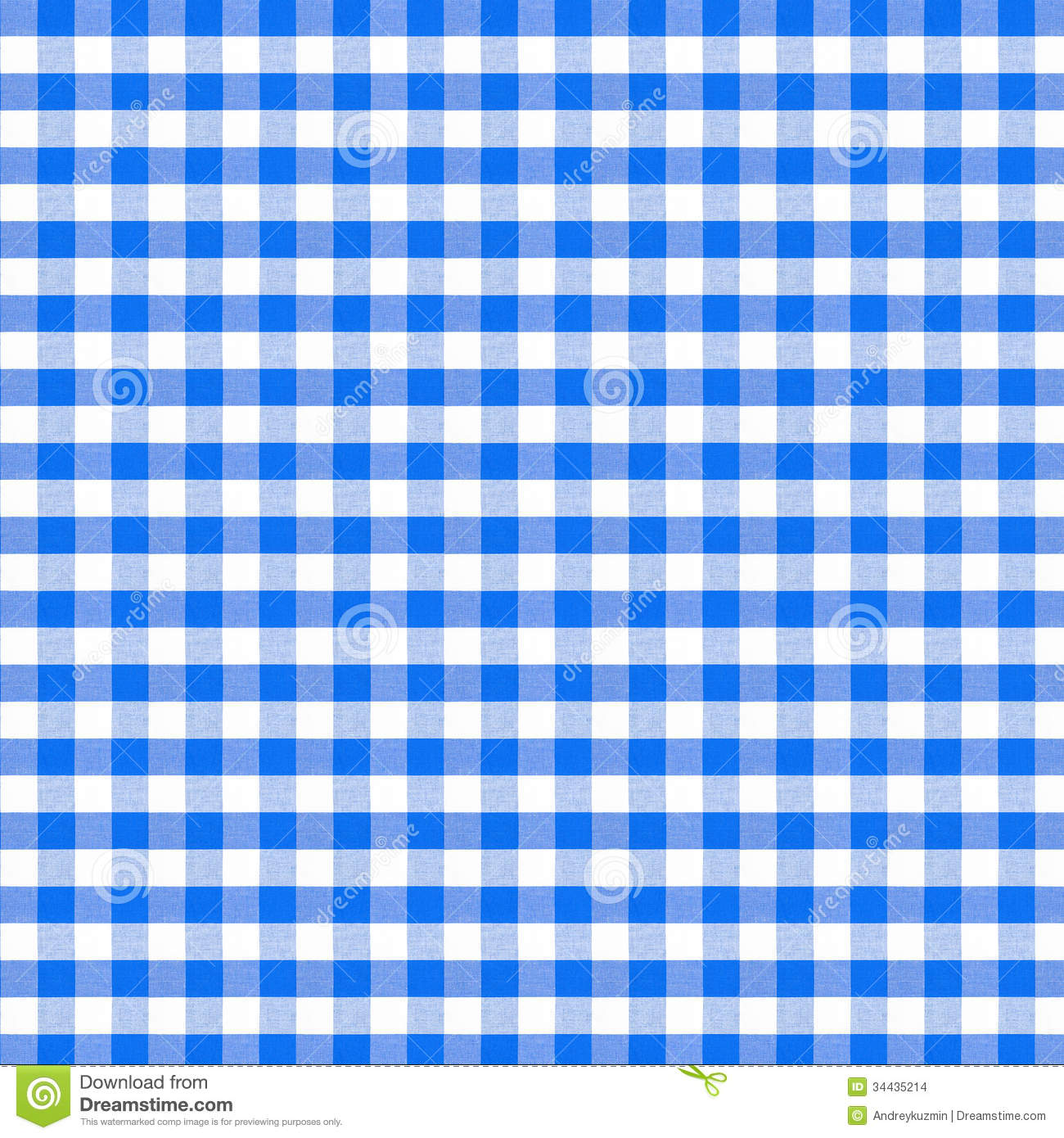 Blue tablecloth background - Blue Picnic Tablecloth Seamless Pattern Stock Images