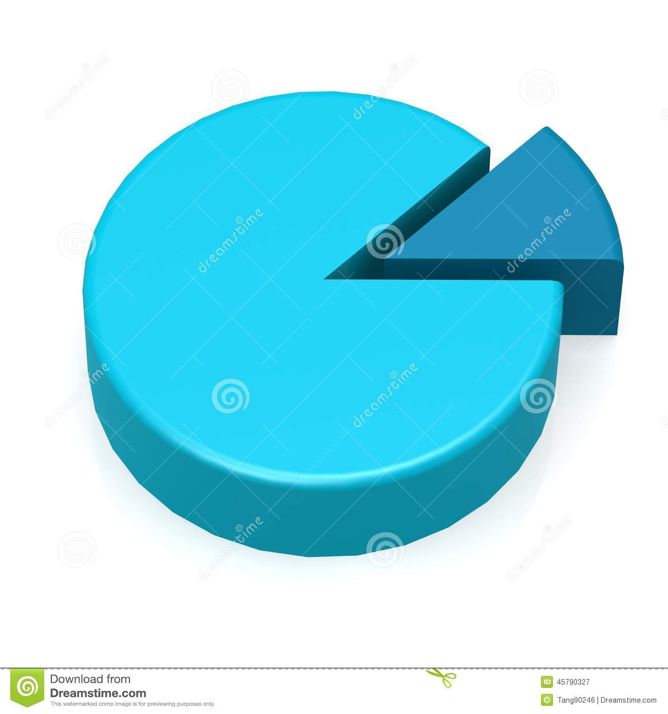Blue Pie Chart Stock Illustration - Image: 45790327