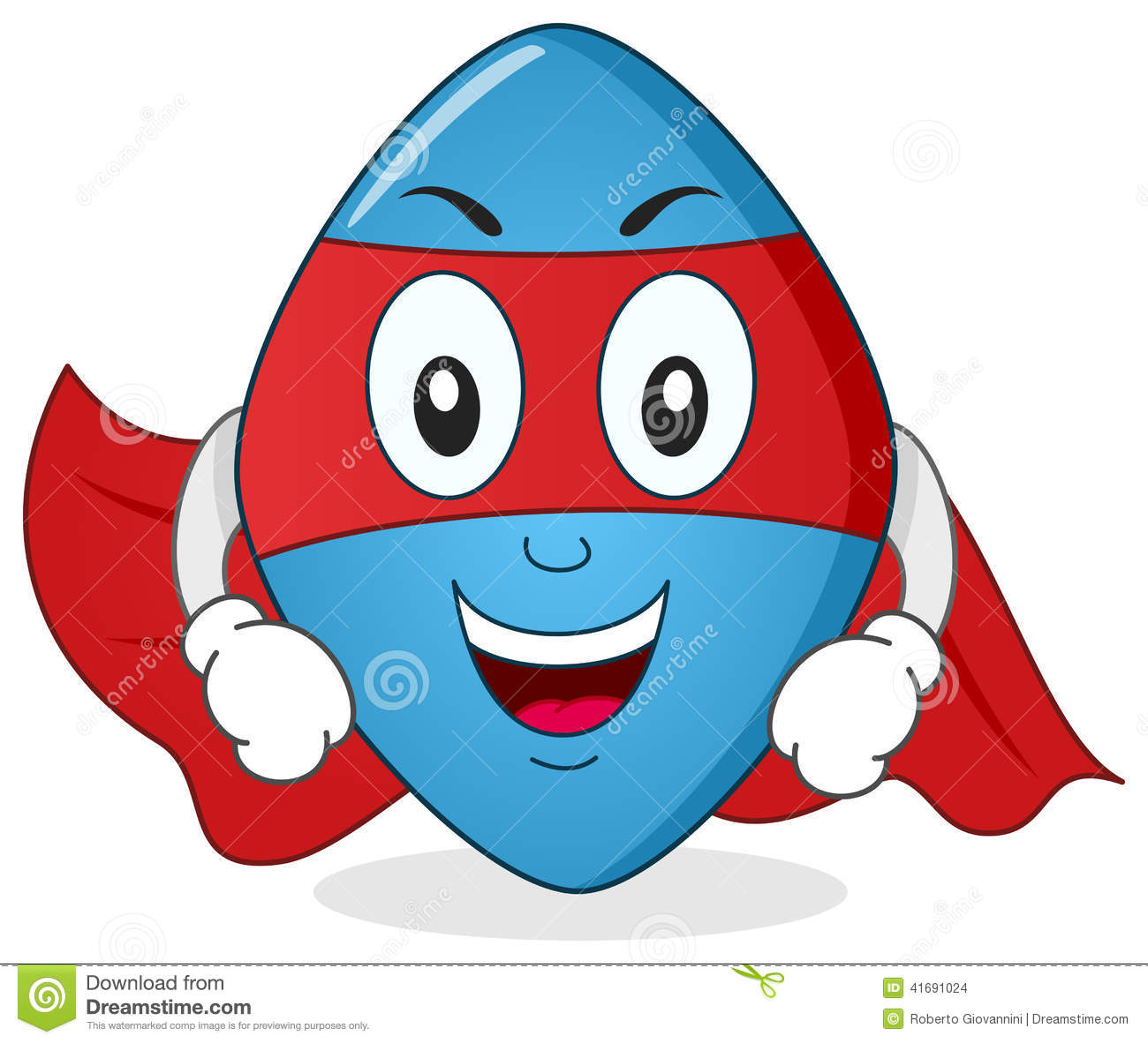 Blue Pill Superhero Cartoon Character