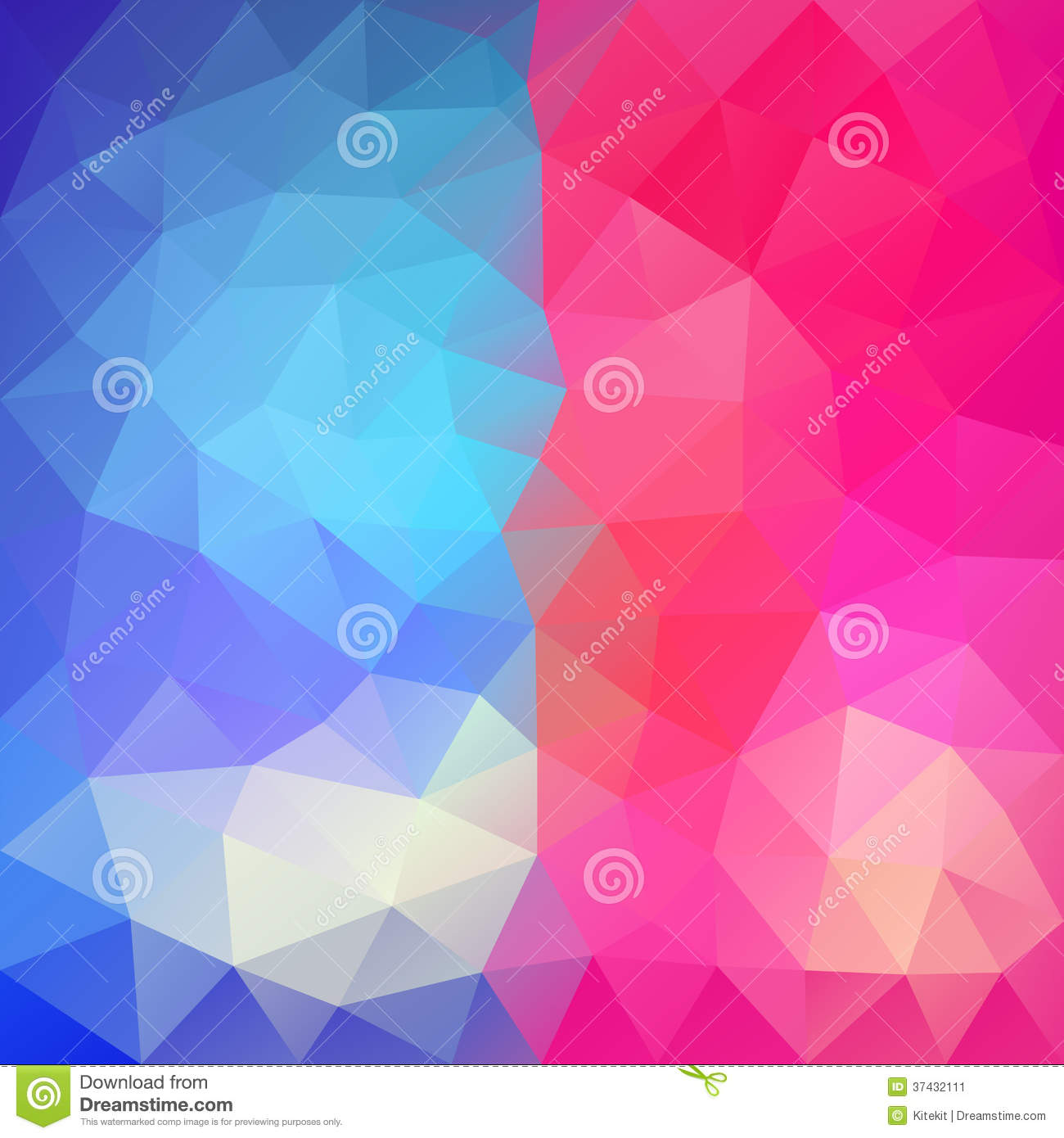 Purple Polygonal Abstract Background: Blue-Pink Abstract Polygonal Background Stock Image