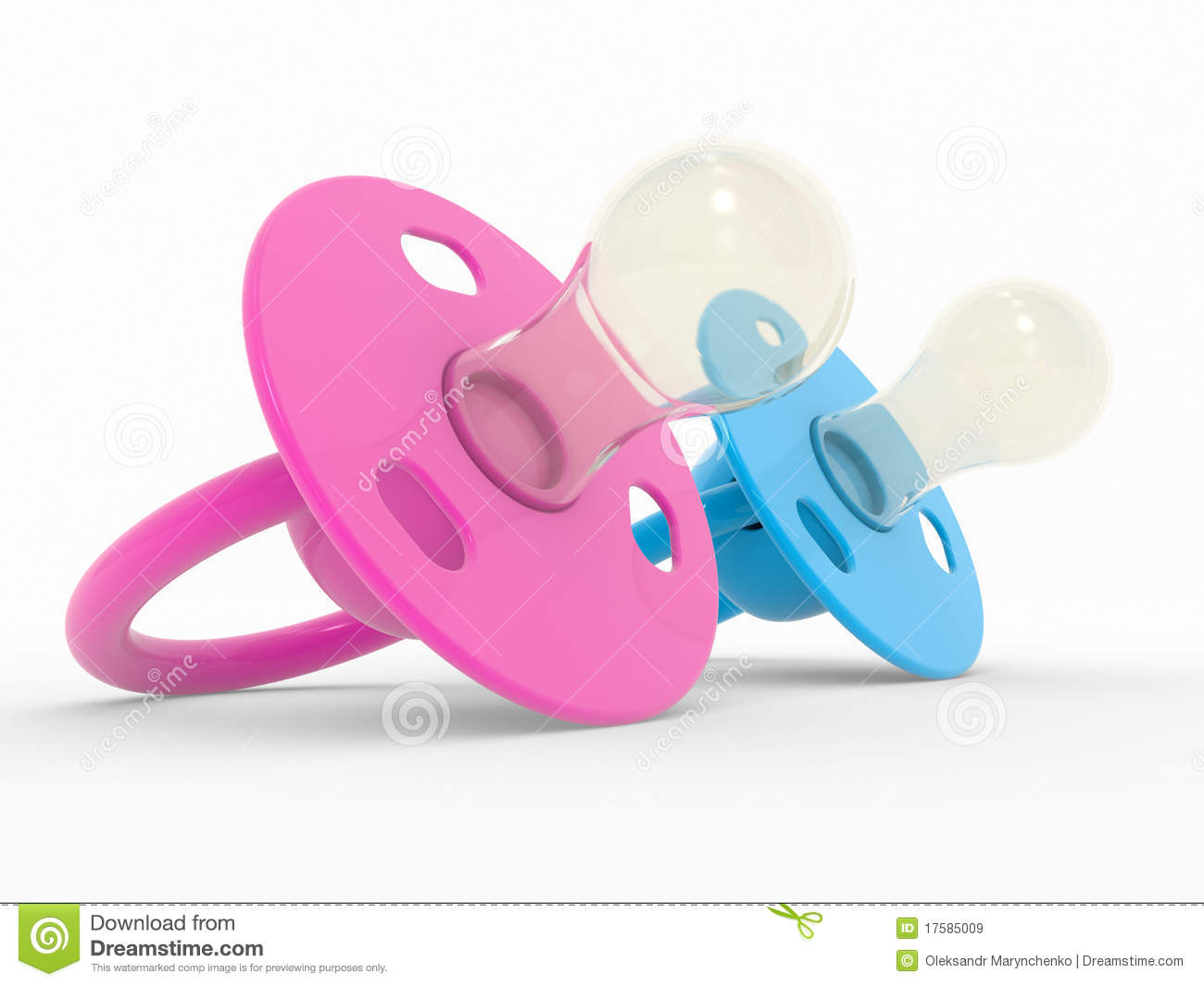 Blue And Pink Babies Dummy Stock Illustration