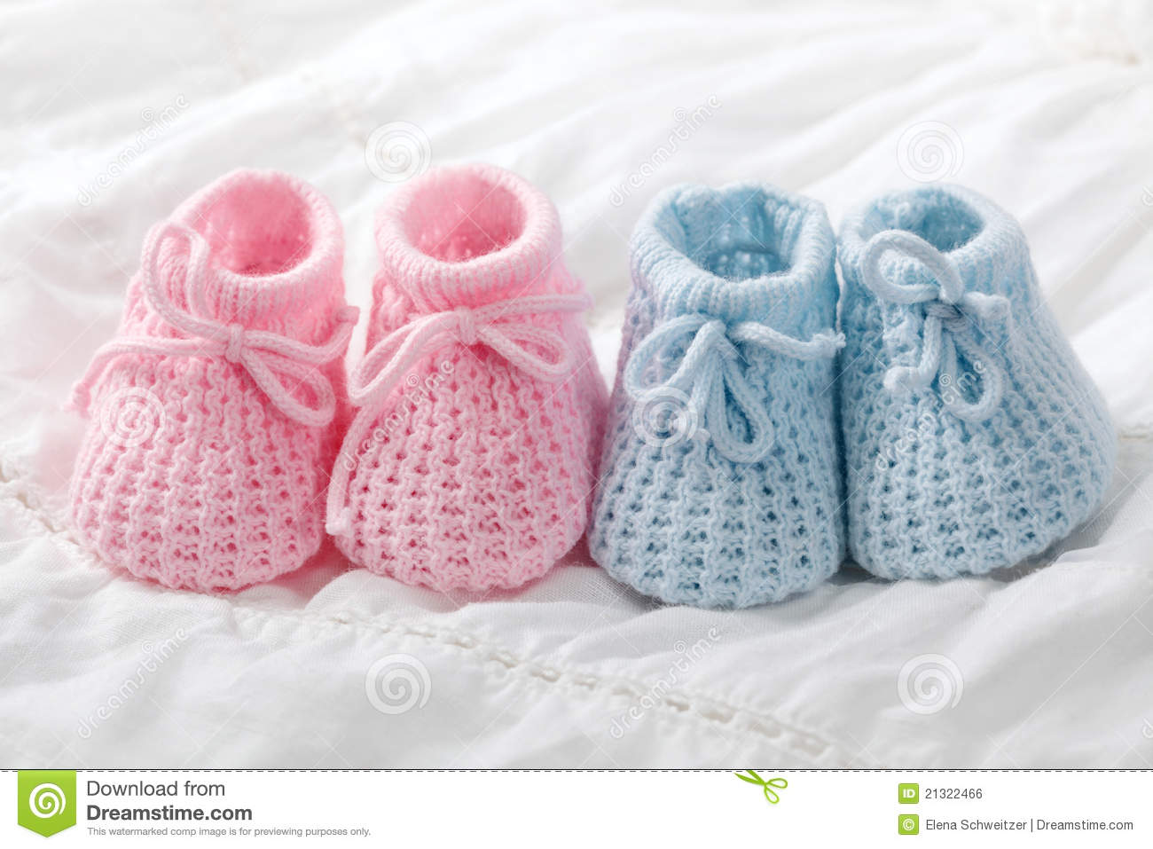 7bf1d19839da2 Blue and pink baby booties stock photo. Image of cute - 21322466