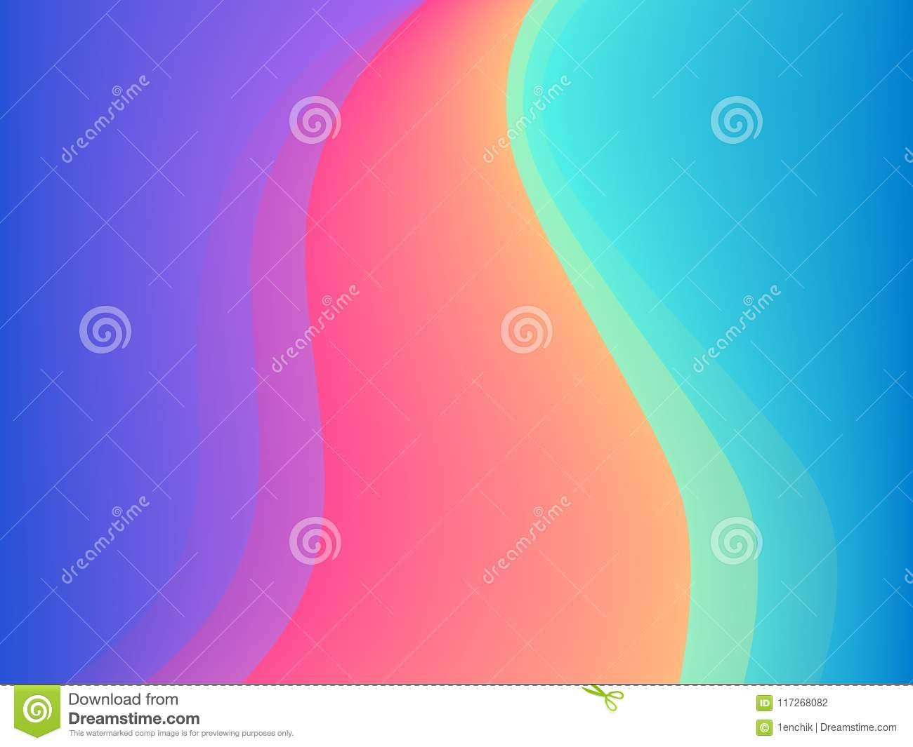 Blue and pink colors vector abstract wavy presentation or poster background