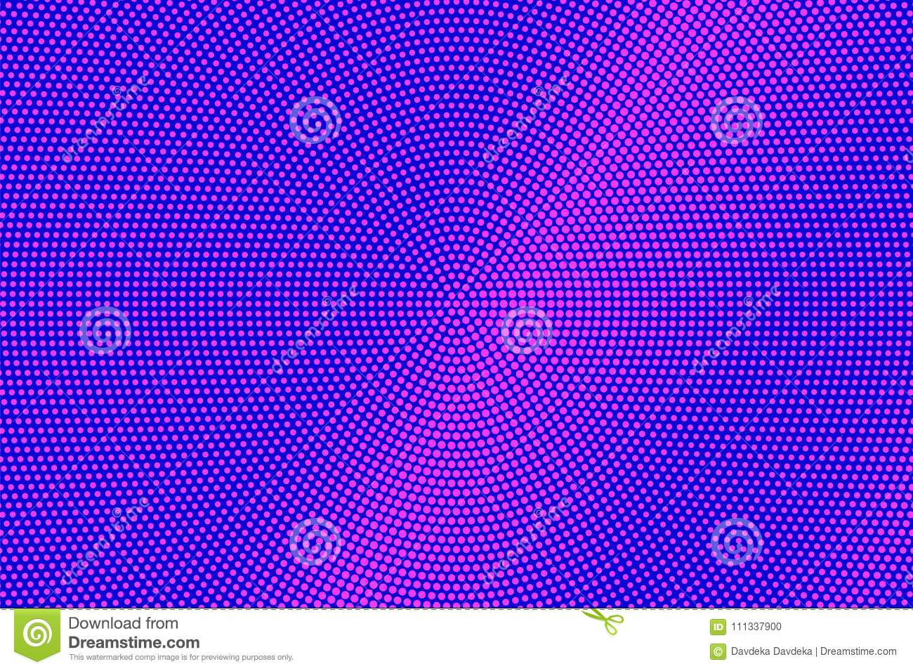 Blue Pink Dotted Halftone. Radial Subtle Dotted Gradient ...