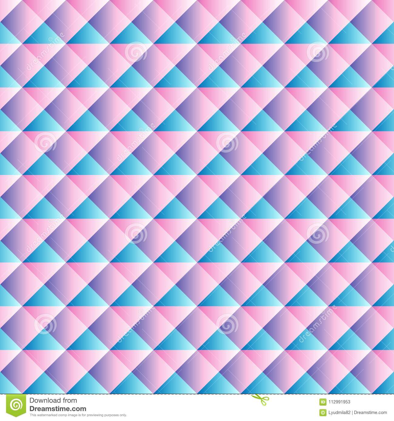 Blue pink geometric background for website decoration, banner, leaflet, top cover, packing.