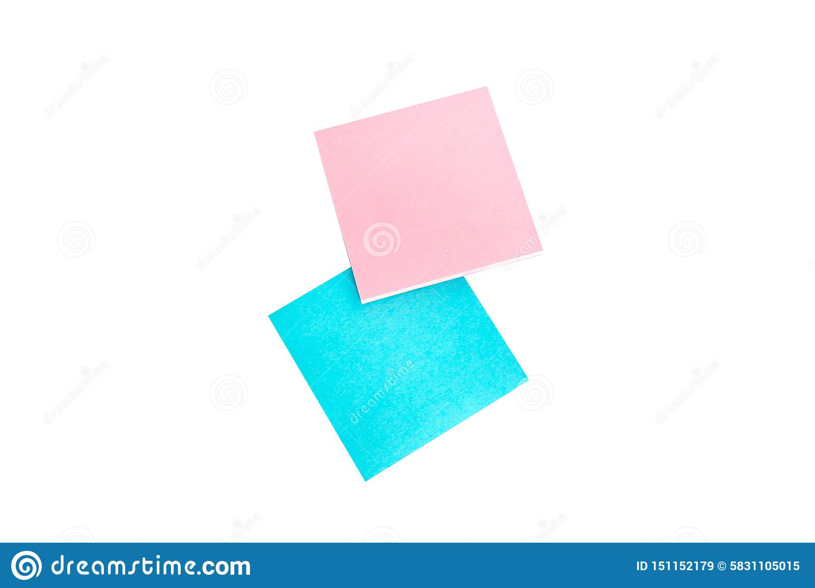 Post note isolated on a white background