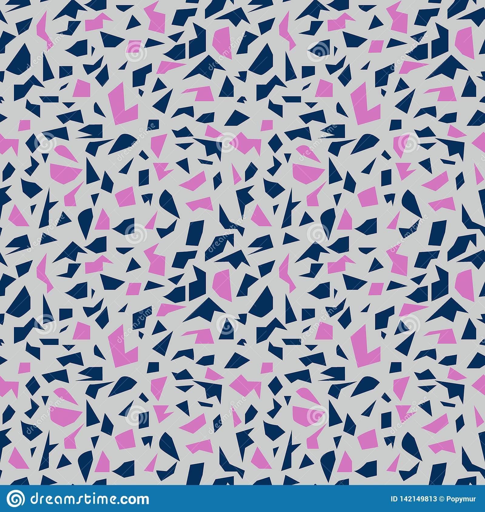 Blue and pink terrazzo stock vector  Illustration of tile