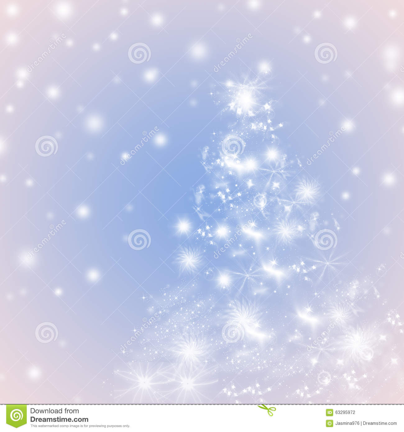 Blue and pink winter holidays greeting card background - Pink and blue christmas tree ...