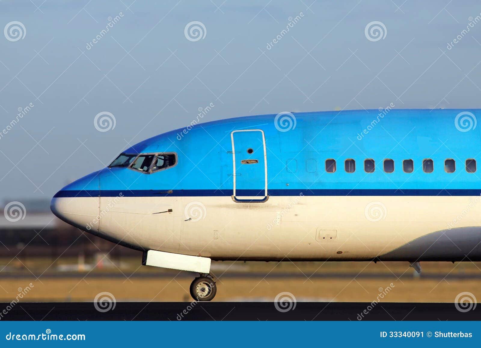 Blue Plane Close Nose