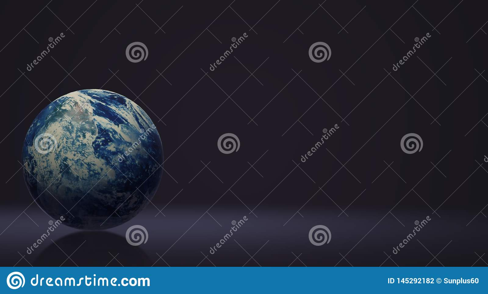Blue planet 3d rendering for earth day and eco content