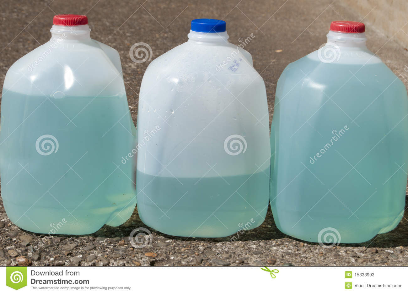 Blue Plant Fertilizer Liquid Stock Image - Image of gallon, water