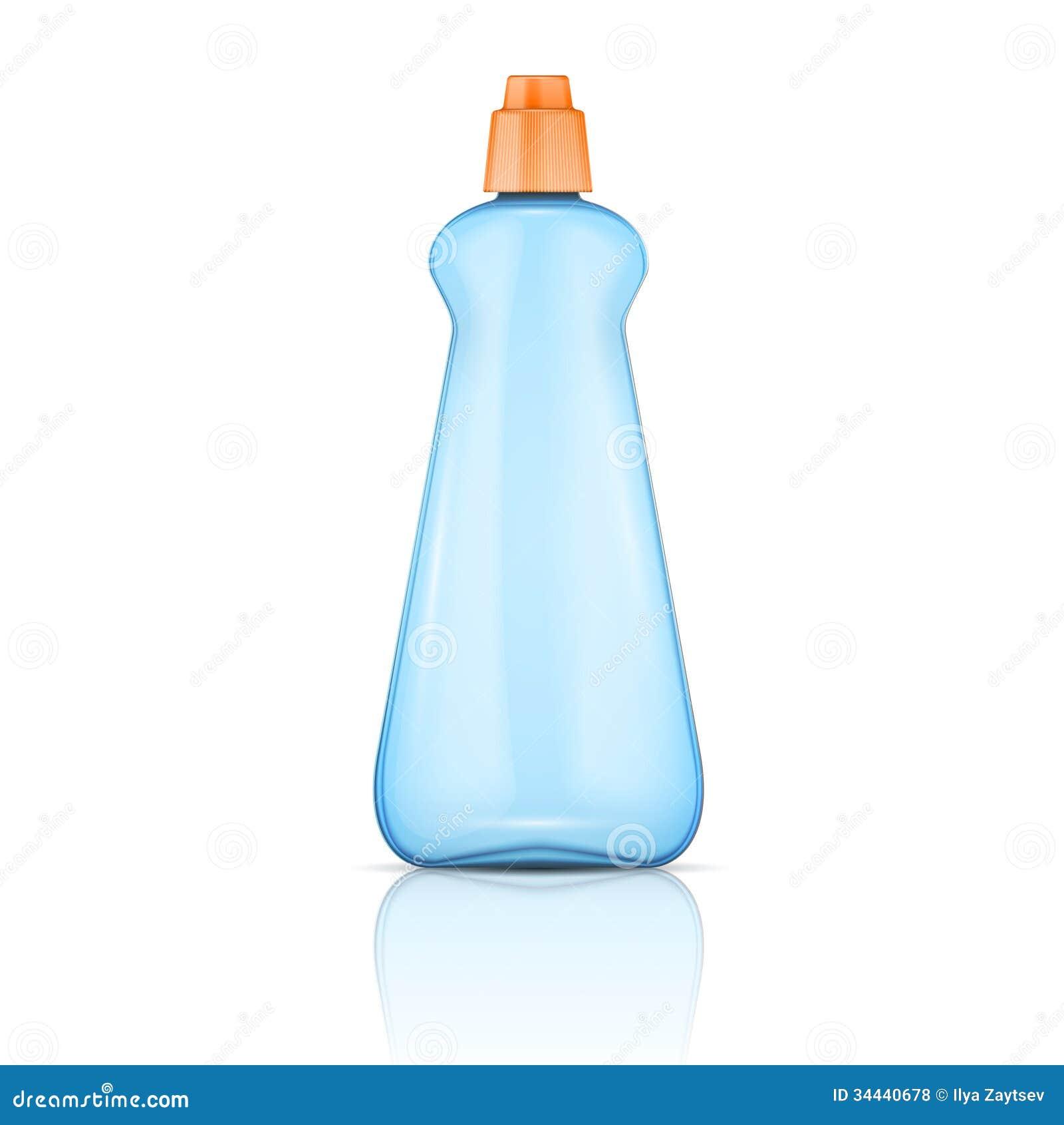 Blue plastic bottle with Plastic Bottle Vector