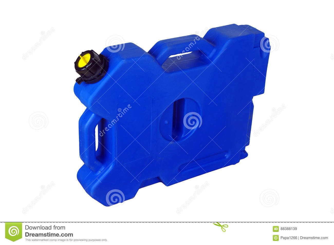 Blue plastic canister Expedition